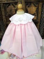 NWT Precious Will'Beth Pink Portrait Collar  Dress  12 Month