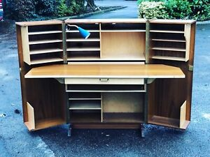 Mid Century Norwegian Fold Away Home office/ Desk by Pfeiffer.