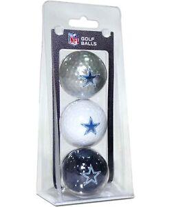 Dallas Cowboys NFL Regulation Golf Balls 3 Pack Sleeve Putting Club