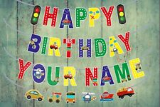 Personalised Birthday Banner Transportation Theme