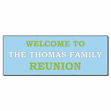 Welcome To Family Reunion Custom Personalized Banner Sign 4' x 8' w/ 8 Grommets