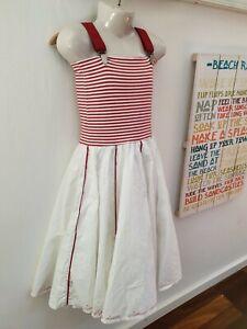 traumhaftes weitschwingendes Kleid von Jottum Gr. 122 maritim Träger doppellagig