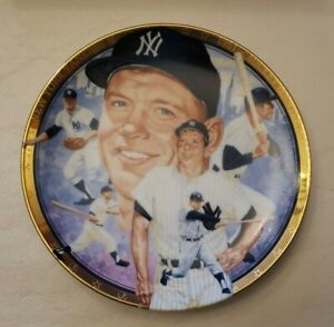 THE LEGENDARY MICKEY MANTLE 1992 BEST OF BASEBALL COLLECTOR PLATE HAMILTON COLL.