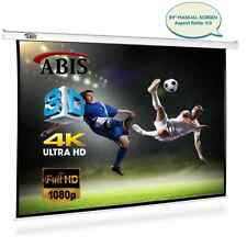 "ON SALE! 84"" Manual Pull Down Projector Screen 4:3 Native Screen 16:9 Compatible"