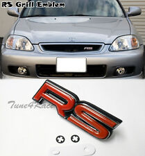 RS Grill Red Emblem logo badge sticker for AUDI TT Focus Vitz Yaris honda Fit