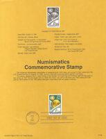 #9136 29c Numismatics Stamp #2558 USPS Souvenir Page