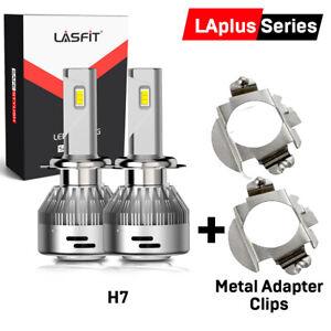 Lasfit Ultra Bright H7 LED Headlight+Adapter Kit For VW Tiguan 18-2020 Low Beam
