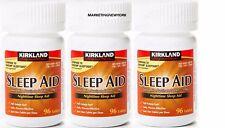 Kirkland Sleep Aid Doxylamine Succinate 25 mg,96 Tablets X 3 Free Worldwide Ship