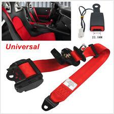 1PCS Universal Retractable Car Truck Seat Belt Lap Diagonal Belt 3 Point Safety