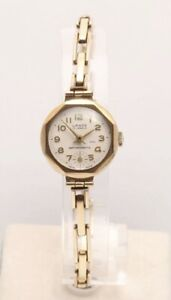 Lanco 9ct Gold 15 Jewel Ladies Hand Wound Ladies Watch