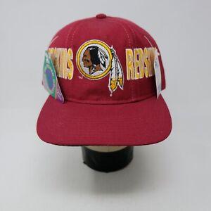 Rare Vintage STARTER Washington Redskins Tri Power Snapback Hat Cap 90s Red NWT