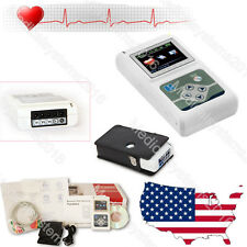 Portable 12 Channel 24H ECG EKG Holter Analyze System Recorder TLC5000 CONTEC US