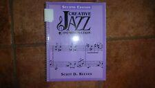 Creative Jazz Improvisation by Scott D. Reeves good condition