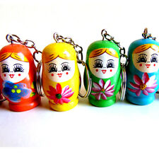 RUSSIAN DOLL KEYRING WOODEN CHARM GIRLS GIFT TOY XMAS CHRISTMAS STOCKING FILLER