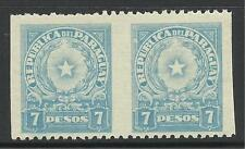 PARAGUAY. 1942. 7p Blue. Variety Imperf Vertically in Pair. SG: 570 var. MNH.