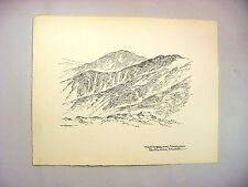 1956 C.Palmer Ink Drawing of  Washington & Ammonoosuc Ravine from Franklin