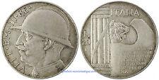 ITALIE , VITTORIO EMANUELE III , 20  LIRE  ARGENT  1928 AN VI  , QUALITÉ ,  RARE