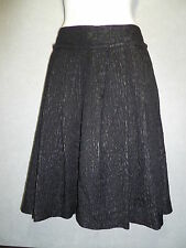 ABAETE AUTH Black Knee Length Knit Pleated Skirt SZ 4 NEW