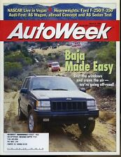 AutoWeek Magazine March 9, 1998 Jeep Jamboree in Mexico, Audi A6
