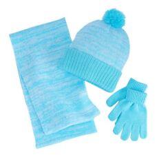 Girls 4-16 Berkshire 3-pc. Marled Infinity Scarf Hat Gloves Set Teal Blue Green