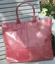 Oversized Rose Mauve 100% Leather Lined Shoulder Tote Bag 50% Off