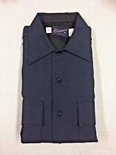 VTG Conqueror Men's Regulation POLICE Uniform Short Sleeve SHIRTNavy Blue 15 1/2