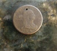 1806 Draped Bust Half Cent 50% Rotation Error