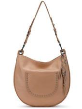 The Sak Zinnia Genuine Pebbled Tan Leather Hobo Handbag Sahara MSRP $179