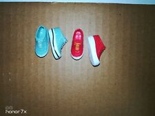 """Mary-Kate and Ashley Dolls """"School and Sport Style"""" tennis shoes lot green red"""