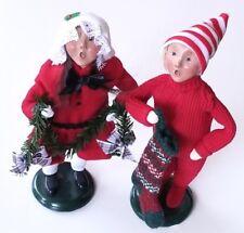 "Byers' Choice Carolers 1997 boy girl child stocking 9.5"" ornament Christmas Xmas"