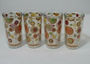 4 TERVIS Tumblers FIESTA Circles  4 Colors Insulated Tumbler 16 OZ