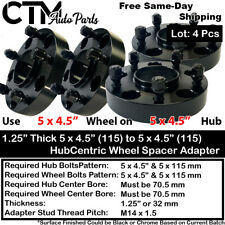 4pc 125 Thick 5x45 705 Hubcentric Wheel Spacer Adapter Fit Mustang Amp More Fits Ford