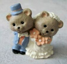 Hallmark 1996 Merry Miniature Everyday - Bride & Groom Bears - #Qfm806-7