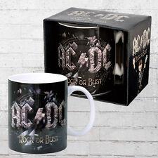 LOGOSHIRT MUG AC DC ROCK or Bust Tazza Da Caffè Nero Caffè Tazza Tazza AC/DC