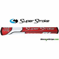 071302 Super Stroke Traxion Pistol GT 2.0 MIDSIZE Putter Grip - RED/WHITE