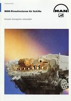 1013MN MAN Dieselmotoren für Schiffe Prospekt 1998 10/98 Diesel engines ships