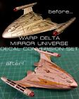 Star Trek Starships Collection EAGLEMOSS - WARP DELTA MIRROR UNIVERSE DECAL SET