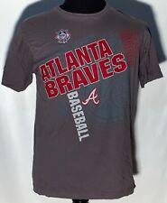 Atlanta Braves MLB Baseball Team Logo NL East Genuine Large Solid Gray T-shirt