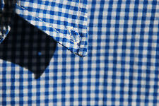 Crate XL Gentleman's Blue & White Gingham Check All Cotton LS Shirt