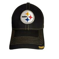 Pittsburgh Steelers Cap in Jet Black and Bold Yellow by New Era - S/M