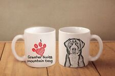 "Greater Swiss Mountain Dog - ceramic cup, mug ""I love"", Ca"