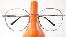 Vintage Glasses Frames Ladies Metal 70s Silver with Large Shape Size M