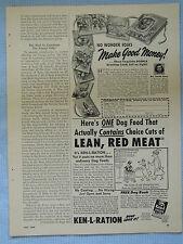 1949 Magazine Advertisement Page Doehla Greeting Cards Ken-L Ration Dog Food Ad