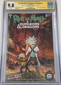 Rick And Morty vs Dungeons & Dragons #1 NYCC Signed by Justin Roiland CGC 9.8 SS