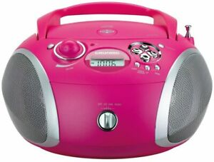 Grundig RCD 1445 Radio (USB 2.0) mit CD/-MP3/-WMA Wiedergabe, Rosa, Ohne OVP