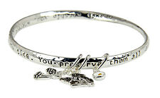 4030206 Guardian Angel Twisted Bangle Charms Protection Prayer Watch Over