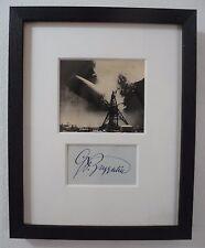 Count Ferdinand von Zeppelin Autograph & Antique Photo of Air Disaster New York