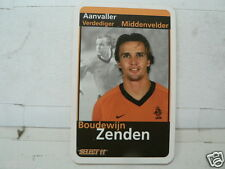 BOUDEWIJN ZENDEN 2000 ? ORANJE VOETBAL SOCCER, GAME PLAYING CARD ONE CARD ONLY