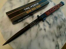 """Tac-Force Huge Assisted Open Black & Pakkawood Stiletto Dagger Pocket Knife 13"""""""