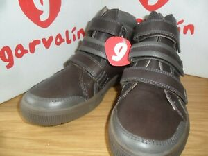Garvalin Boys Short Boot in Mocha Brown - Real Leather BNIB Size 2.5 UK / EU 35
